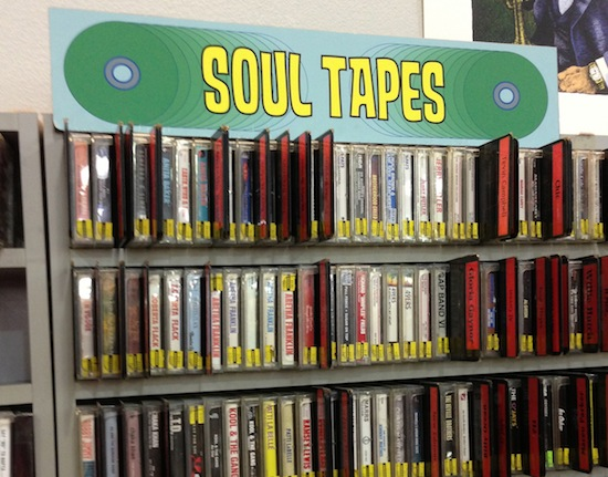 How many record stores still have a Soul Tapes section?
