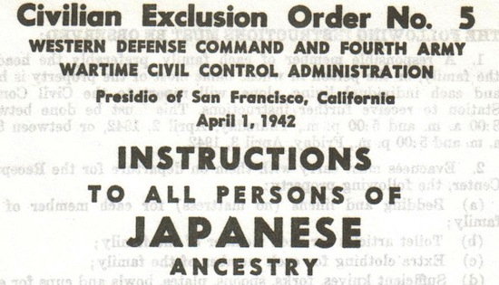 FDR's Exclusion Order