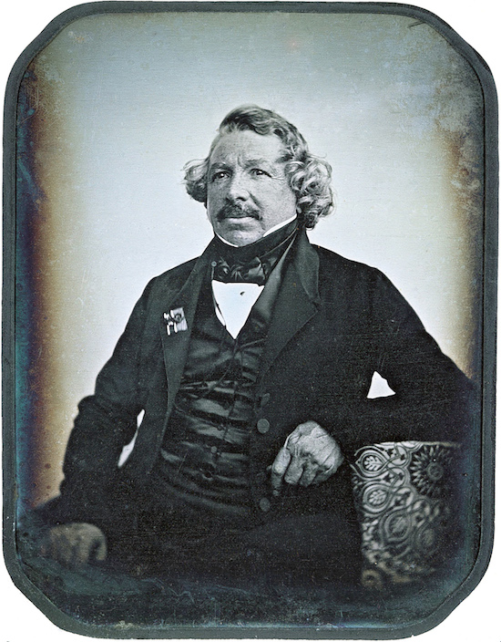 Louis Daguerre taken with his own invented camera