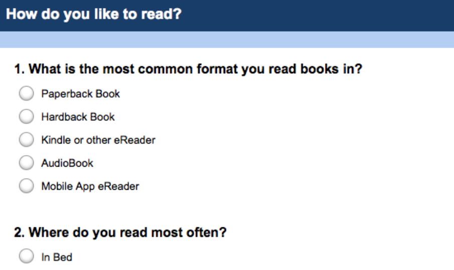 Poll: How Do You Like to Read?
