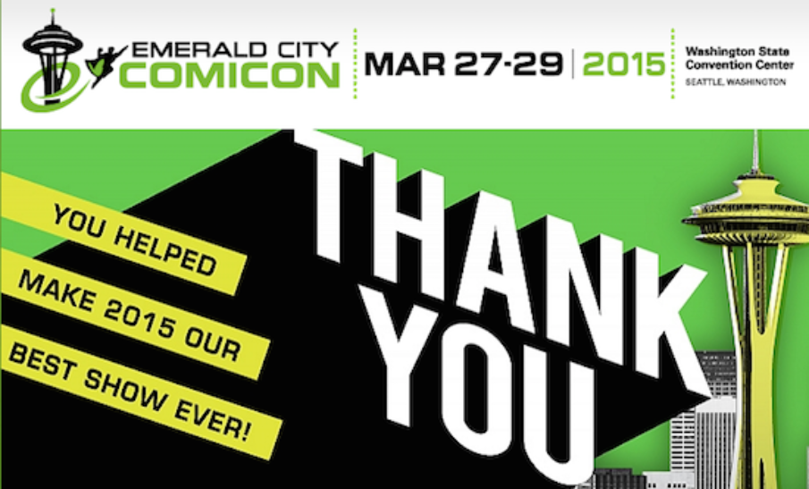 Emerald City Comic Con 2015 Highlights